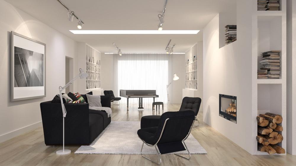 rendering di interni render di interni soggiorno moderno